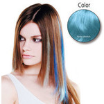 Balmain Fill-In Extensions Fiber Hair Straight- baby blue  10Stü