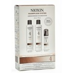 Nioxin Trial Kit (Einsteigerset) System 4  (1 Shampoo, 1 Conditioner, 1x Kopfhau