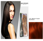 Balmain Double Hair Treatment Set 130 Medium Copper Red Blond - 40cm - 5Stück -